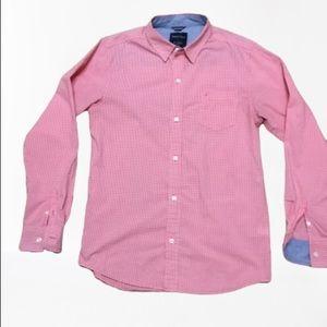 Boys Nautica red gingham shirt-XL (18/20)